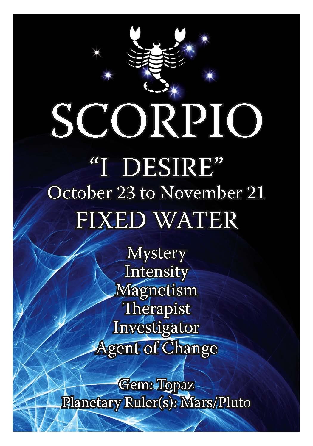 scorpio horoscope birthday